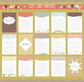 Vector cute cards collection Stock Photography