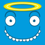A Vector Cute Cartoon Blue Angel Face Royalty Free Stock Photos
