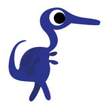 A Vector Cute Cartoon Blue Dinosaur Isolated Stock Images