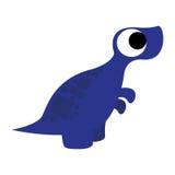 A Vector Cute Cartoon Blue Dinosaur Isolated Royalty Free Stock Photo