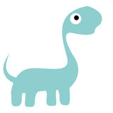 A Vector Cute Cartoon Blue Dinosaur Isolated Royalty Free Stock Images