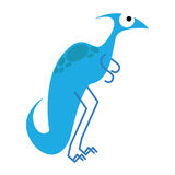 A Vector Cute Cartoon Blue Dinosaur Isolated Royalty Free Stock Photography