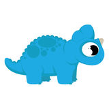 A Vector Cute Cartoon Blue Dinosaur Isolated Stock Photo
