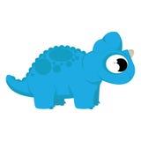 A Vector Cute Cartoon Blue Dinosaur Isolated Stock Photo