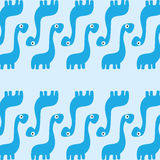 A Vector Cute Cartoon Blue Dinosaurs Background Royalty Free Stock Image