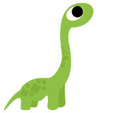 A Vector Cute Cartoon Green Dinosaur Isolated Stock Photo