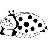 Vector Cute Cartoon Ladybug Resting Royalty Free Stock Photography