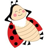 Vector Cute Cartoon Ladybug Sleeping Stock Photos