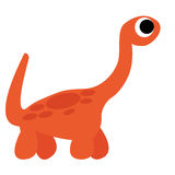 A Vector Cute Cartoon Orange Dinosaur Isolated Royalty Free Stock Images