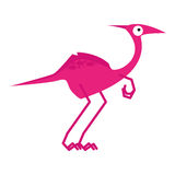 A Vector Cute Cartoon Pink Dinosaur Isolated Stock Images
