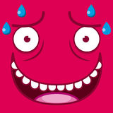 A Vector Cute Cartoon Red Sweaty Face Royalty Free Stock Photo