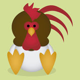 A Vector Cute Cartoon Rooster Sitting Isolated Royalty Free Stock Photo