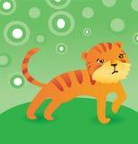 Vector cute cartoon tiger Stock Image