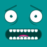 A Vector Cute Cartoon White Scared Face Stock Photo