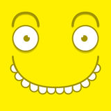 A Vector Cute Cartoon Yellow Happy Face Royalty Free Stock Photography