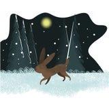Cute vector rabbit illustration stock illustration