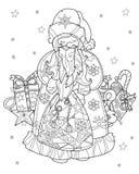 Vector cute christmas fairy tale town doodle. Stock Photos