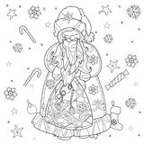Vector cute christmas fairy tale town doodle. Royalty Free Stock Photos
