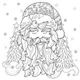 Vector cute christmas fairy tale town doodle. Royalty Free Stock Photography