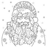 Vector cute christmas fairy tale town doodle. Royalty Free Stock Image