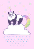 Vector cute chubby panda Stock Image
