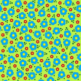 Vector cute colorful flowers seamless pattern Stock Images