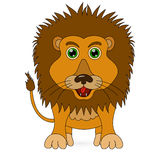 Vector Cute coloring lion cartoon. Vector coloring Cute lion cartoon on white background Stock Images