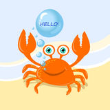 Vector cute crab Royalty Free Stock Photos