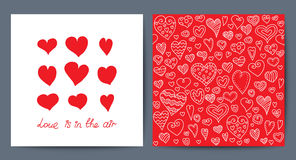 Vector cute creative card with love theme design. Stock Image