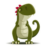Vector cute Dinosaur  on white Royalty Free Stock Photo