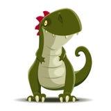 Vector cute Dinosaur  on white Royalty Free Stock Photo