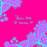 Vector cute doodle floral frame background Stock Image