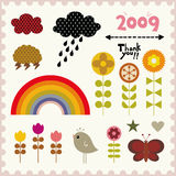 Vector cute elements Stock Photography