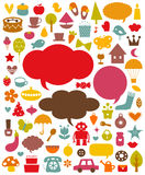 Vector cute elements collection Stock Photo
