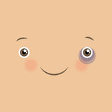 Vector cute emoticon with smile. Royalty Free Stock Photography
