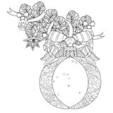 Vector cute fairy doodle christmas bells Stock Images