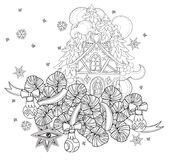 Vector cute fairy doodle christmas bells Royalty Free Stock Photography