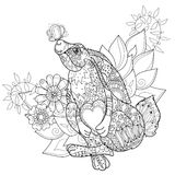 Vector cute fairy rabbit in flowers Royalty Free Stock Images