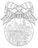 Vector cute fairy tale town doodle Stock Images