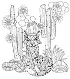 Vector cute fairy wigwam doodle Stock Photo