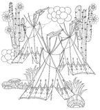 Vector cute fairy wigwam doodle Royalty Free Stock Photo