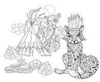 Vector cute fairy wigwam doodle Stock Photography