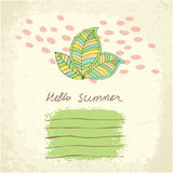Vector cute floral card. Royalty Free Stock Photography