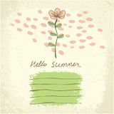 Vector cute floral card. Stock Image