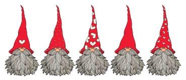 Free Vector  Cute Gnomes Cartoons. Stock Photo - 165729630