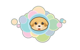 Vector cute golden retriever head. Vector illustration Dog `s head in cartoon style Royalty Free Stock Images