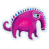 Vector cute Halloween character ogre, fictitious creature. Cool. Illustration of sad purple monster stock illustration