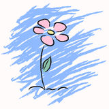 Vector cute hand drawn flower Stock Images