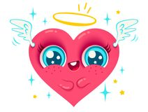 Angel heart with wings Royalty Free Stock Photography