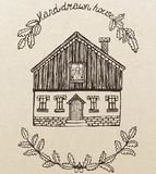 Vector cute house with chimney Stock Images